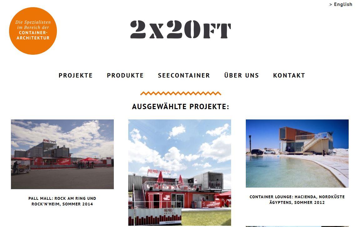 2x20ft Homepage Bildschirmfoto