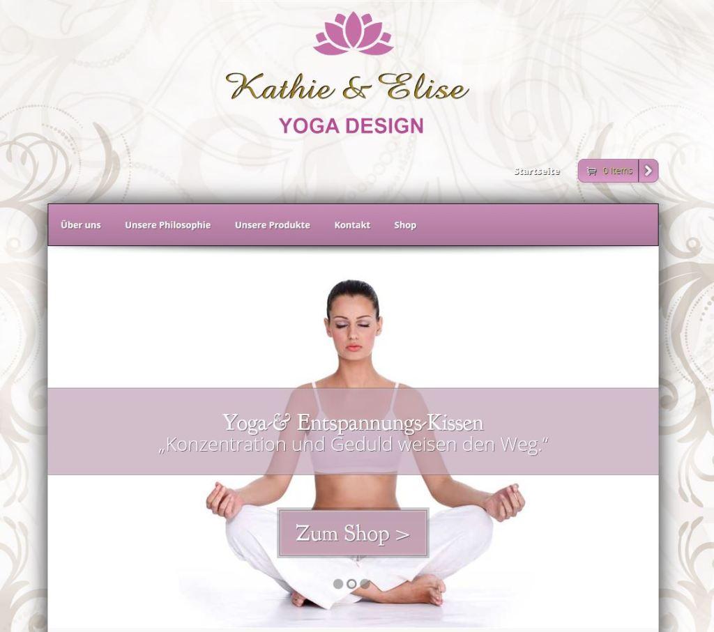 Kathie & Elise Homepage Bildschirmfoto